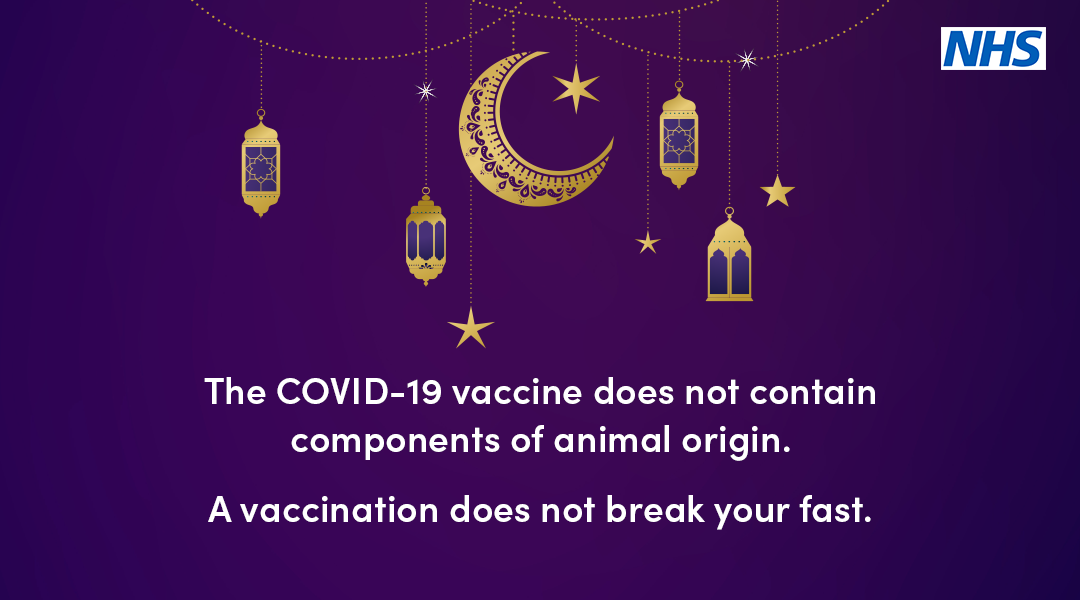 The covid-19 vaccine does not contain components of animal origin. A vaccination does not break your fast